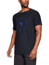 Under Armour Mens UA Project Rock Vanish All Day Hustled T-Shirt Black NWT - $29.99+