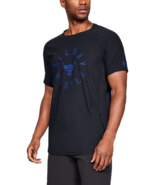 Under Armour Mens UA Project Rock Vanish All Day Hustled T-Shirt Black NWT - $29.98+