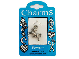Watch Us Charms Silver Prancing Horse Charm