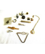 Mixed Lot Vintage - Now Tie Bar Clip Tack Cuff Link Chain Zipper Pull Ri... - $12.99