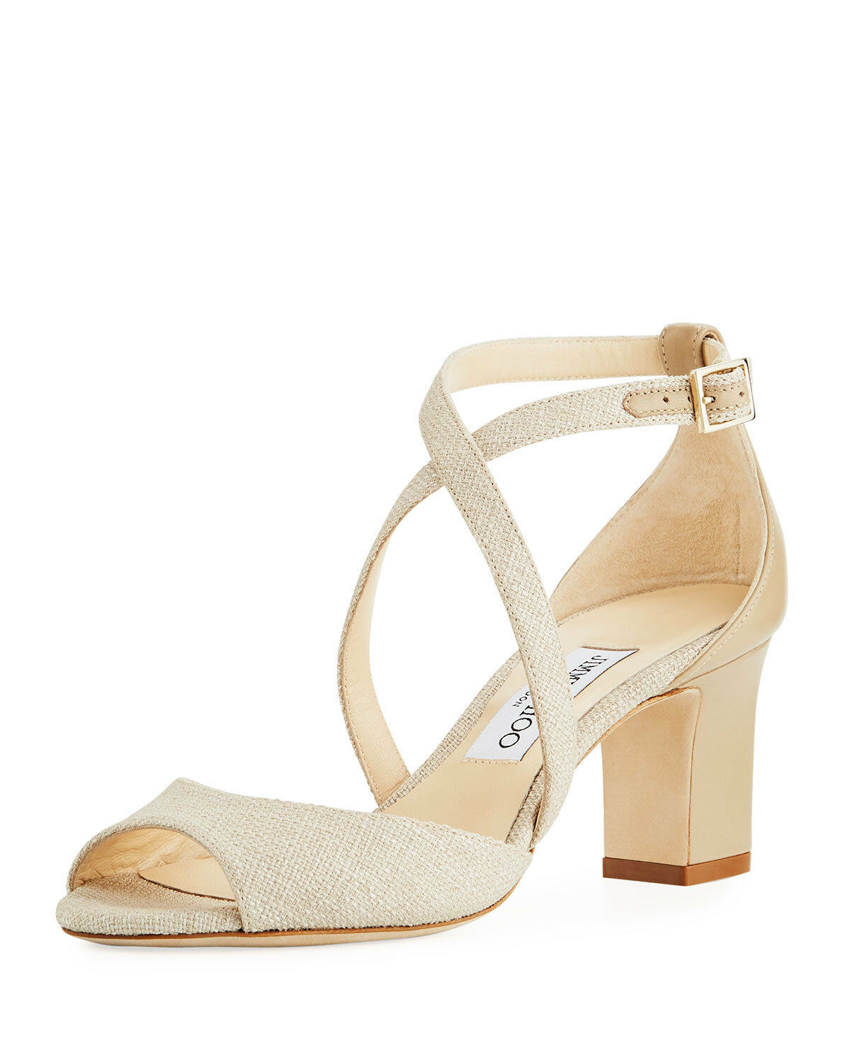 Primary image for Jimmy Choo Carrie Canvas 65mm Sandals  $695.00 Size 36