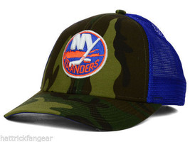New York Islanders VF36Z Camo NHL Hockey Team Logo Camouflage Cap Adjustable - $20.85
