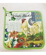 Michel Design Works Farmers Market Rooster Chicken Hotpad Potholder NICE - $9.41