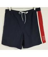 Nautica Mens XXL 2XL Swim Trunks Lined Spellout Logo Blue Board Shorts B... - $25.87