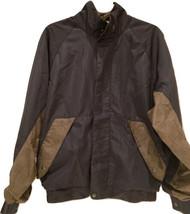 DryJoys by FootJoy Men's Sz S Black Brown Hounds Tooth Plaid Jacket Windbreaker - $35.59