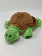 "Webkinz Green Turtle Brown Shell Plush Beanbag Stuffed 9"" Toy No Code HM150 - $7.92"