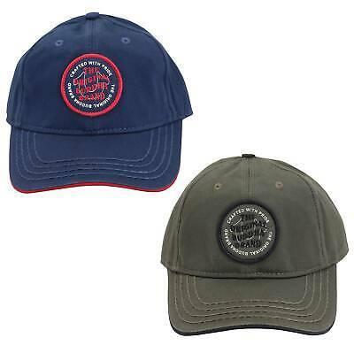 True Religion Men's Circle Patch Sports Solid Hat Baseball Strapback Cap