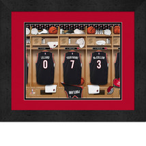 Personalized Portland Trailblazers 12 x 16 Locker Room Framed Print - $63.95