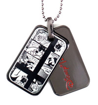 Officially Licensed Disney Flud Mickey Mouse Donald Duck Comic GunMetal Dog Tags image 1