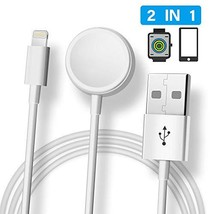 Tiamat+ Compatible with Apple Watch iWatch Charger, 2 in 1 Wireless Char... - $16.19