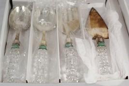 Shannon Crystal by Godinger Versailles 4 Piece Crystal Handled Serving Set - $51.47