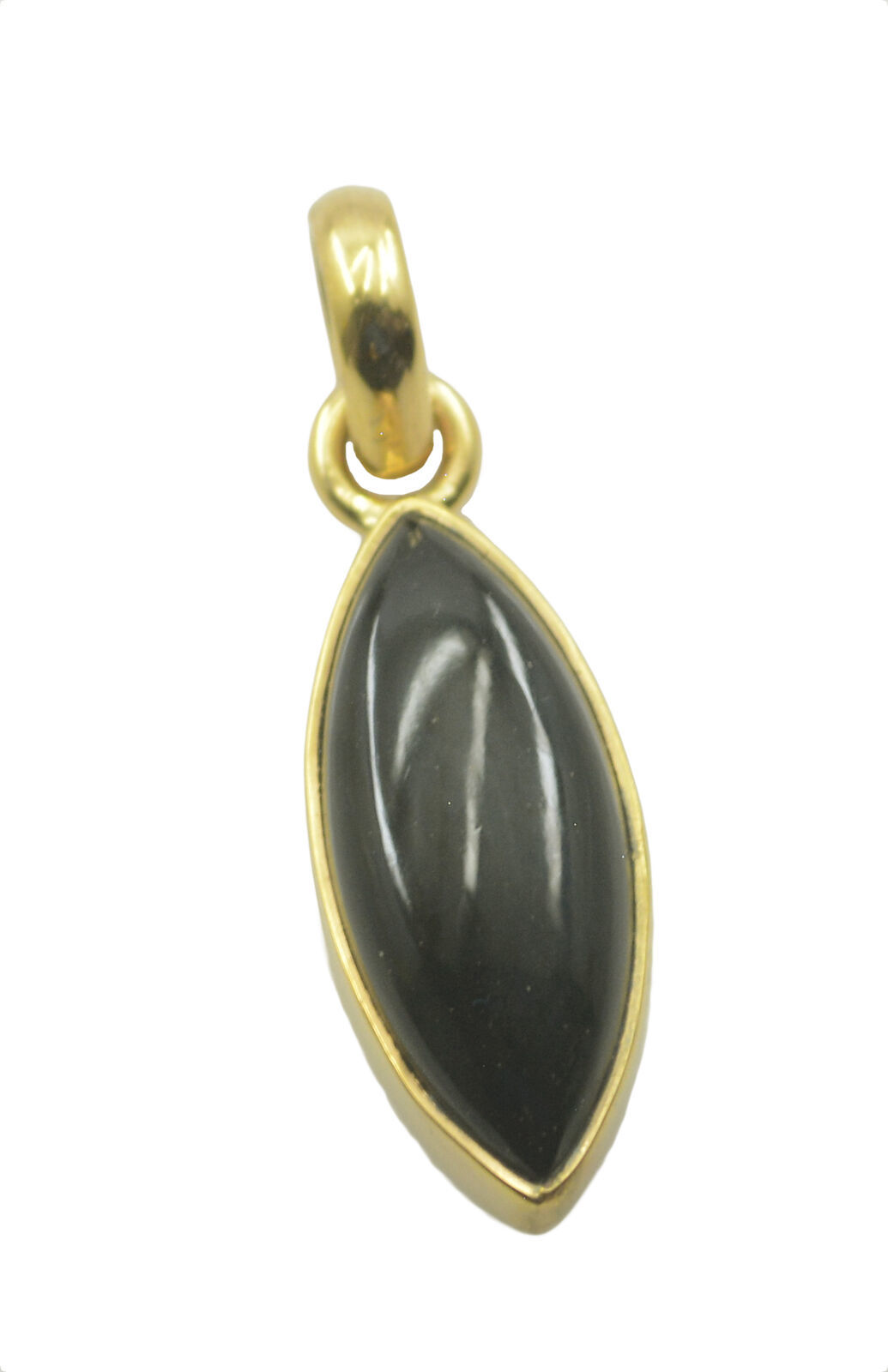 Primary image for elegant Black Onyx Gold Plated Black Pendant Natural wholesales US gift