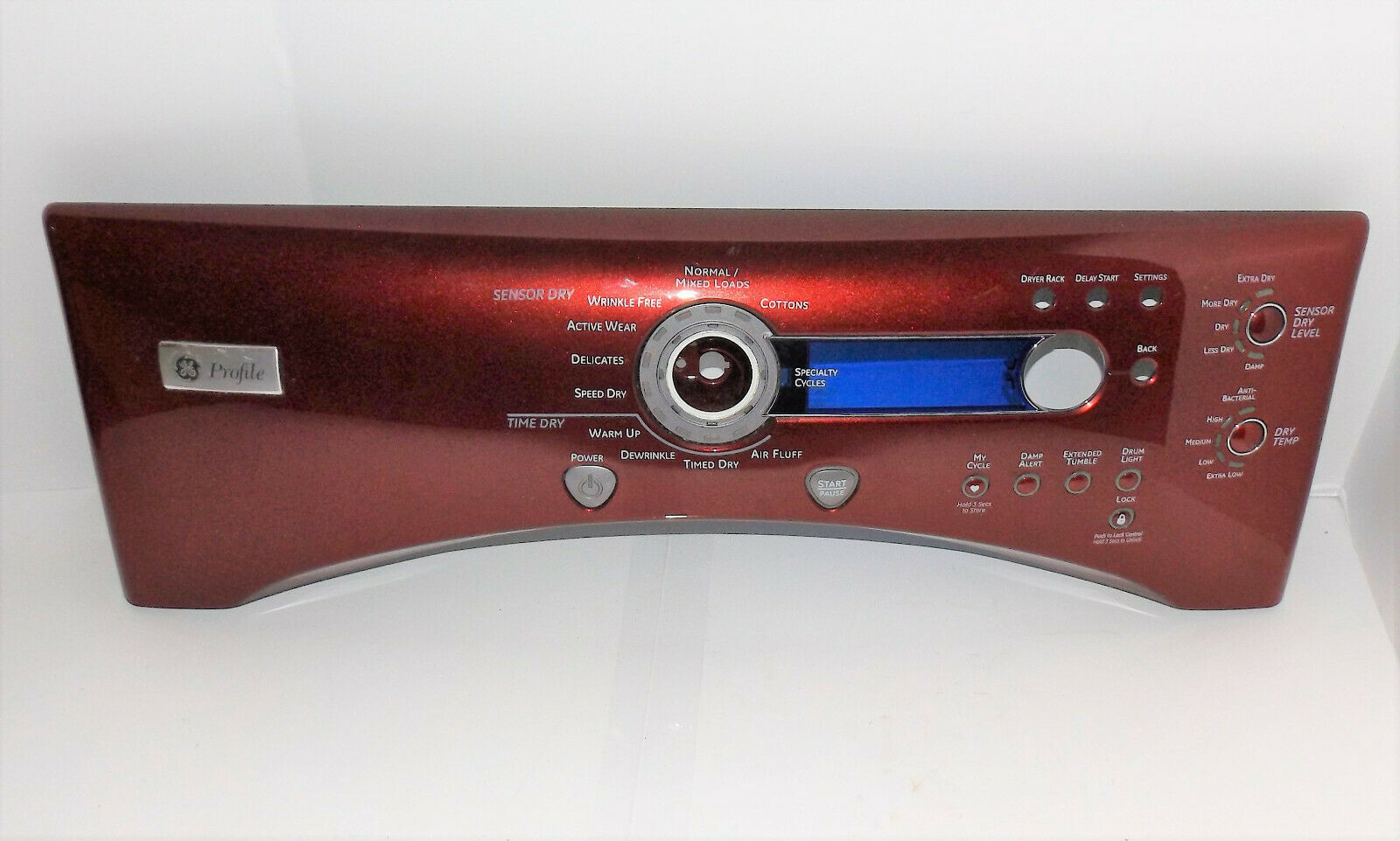 Primary image for GE Profile Dryer : Control Selection Panel : Red (212D1410) {P3989}
