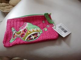 vera bradley small straw zipper pouch in Tutti Fruitti Fish NWT - $25.00