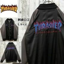 Used [THRASHER stadium jacket] size L, black x gray switching design - $257.39