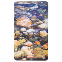 "Non Slip Bath Tub Mat 16""x27"" Brook Fabric Polyester PVC Printed - $14.59"