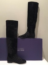 Stuart Weitzman 5050 Velvet Croco Nero Black Over the Knee Riding Boot S... - $299.98