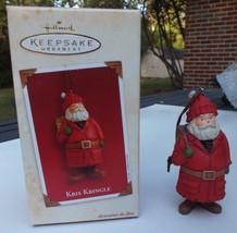 Kris Kringle Hallmark Keepsake Ornament Christmas 2003 Santa Claus w/ Card - $16.65