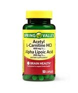 Spring Valley Acetyl L-Carnitine HCL and Alpha Lipoic Acid Capsules, 50 ... - $19.99