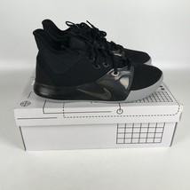 Nike Pg 3 Paul George Zapatillas Baloncesto Hombre Talla 8 Negro/Gris AO... - $83.16