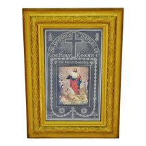 Rare Antique Religious Artwork Display Cabinet with Scrolling Mechanism  image 1