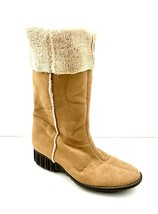 Anne Klein Faux Fur Suede Lined Brown Boots 7 US Women's - $16.83
