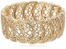 1928 Jewelry Gold-Tone Filigree Stretch Bracelet - $24.29