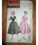 Vintage Butterick Misses Full-Skirted dress Size 14  #6962 1950's - $24.99