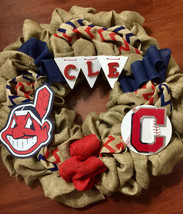 Cleveland Indians Wreath- Tribe-CLE -Baseball - $55.00