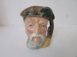 "Royal Doulton Character Toby Mug Creamer 6539 Robinson Crusoe England 4"" - $14.80"