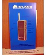 Midland Electronics Co. Model 13-7018 10-Transistor 2-Channel Transceive... - $8.99