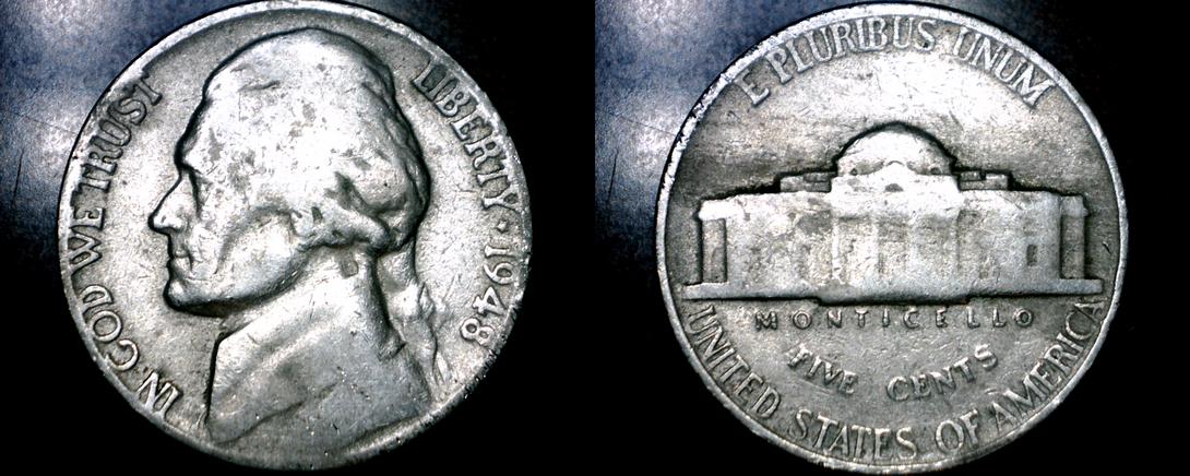 1948-P Jefferson Nickel - $1.25