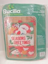 BUCILLA Christmas Heirloom Seasons Greetings Jeweled Stitchery Cardholder 82148 - $28.66