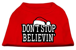 Don't Stop Believin' Screenprint Shirts Red S (10) - $11.98