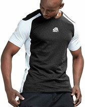 AIMPACT Mens Workout Shirts Training Shirts Athietic Tees Bodybuilding S... - $27.83