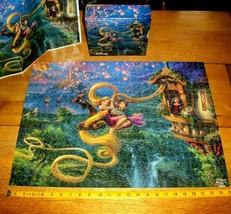 Disney Thomas Kinkade Jigsaw Puzzle 750 Pcs Tangled Up Rapunzel Poster C... - $16.82