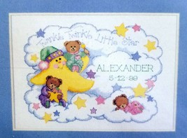 Birth Record Dimensions Twinkle Twinkle 14x10 Counted Cross Stitch Kit 3865 - $20.00