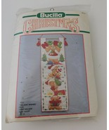 Bucilla CHRISTMAS 'Holiday Wishes' Teddy Bear Card Holder Kit 10x30 - $24.14