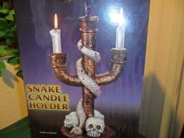 Large Gothic Snake & Skull Candelabra Halloween Prop - $29.99