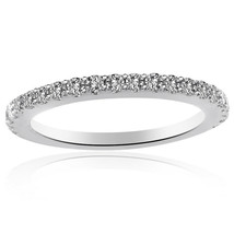 0.37 Carat Round Brilliant Cut Diamond Wedding Band in 14K White Gold - $569.25+