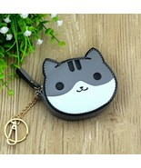 Key Chains Cat Cute Anime Small Pendant Leather Keychains For Women Girl... - $9.50