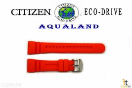Citizen Eco-Drive JV0030-19F Original 26mm Orange Rubber Watch Band JV00... - $84.95
