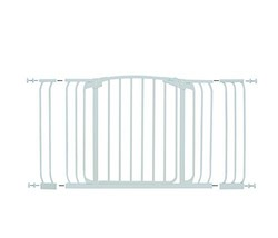Dreambaby Chelsea Hallway Auto Close Security Gate in White with Extensions image 2