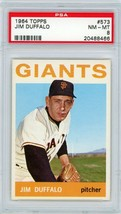 1964 Topps Jim Duffalo #573 PSA 8 P892 - $24.11