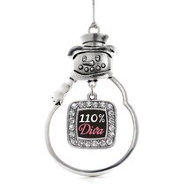 Inspired Silver 110% Diva Classic Snowman Holiday Christmas Tree Ornament With C - €13,13 EUR