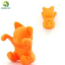 Cute Silicone Cat Tea Infuser Tea Filter Diffuser Reusable Tea Strainer ... - £3.19 GBP