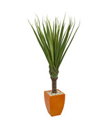 5.5' Spiky Agave Artificial Plant in Orange Planter  - $292.90