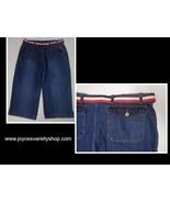 Sonoma Blue Jean Capris NWT SZ 16 Red White & Blue Belt - $16.99