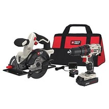 "PORTER-CABLE PCCK612L2 20V Max 1/2"" Drill/Driver and 5 1/2"" Circular S - $115.40"