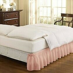 Wrap Around Eyelet Ruffled Bed Skirt - EasyFit™ sephia rose